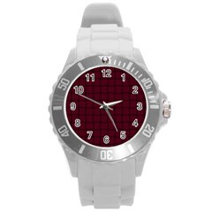 Dark Scarlet Weave Plastic Sport Watch (large)