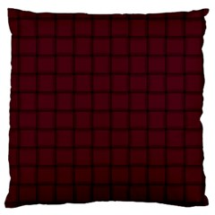 Dark Scarlet Weave Large Cushion Case (two Sides)