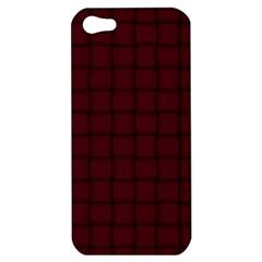 Dark Scarlet Weave Apple Iphone 5 Hardshell Case