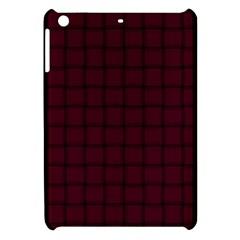 Dark Scarlet Weave Apple Ipad Mini Hardshell Case