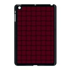 Dark Scarlet Weave Apple iPad Mini Case (Black)