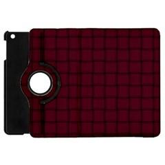 Dark Scarlet Weave Apple iPad Mini Flip 360 Case
