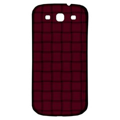 Dark Scarlet Weave Samsung Galaxy S3 S Iii Classic Hardshell Back Case