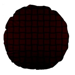 Dark Scarlet Weave 18  Premium Round Cushion