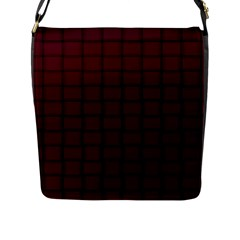 Dark Scarlet Weave Flap Closure Messenger Bag (Large)
