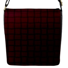 Dark Scarlet Weave Flap Closure Messenger Bag (small)