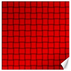 Red Weave Canvas 20  X 20  (unframed)