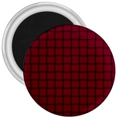 Burgundy Weave 3  Button Magnet