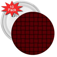 Burgundy Weave 3  Button (10 Pack)