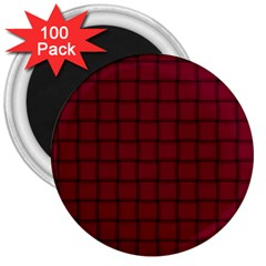 Burgundy Weave 3  Button Magnet (100 Pack)