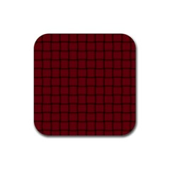 Burgundy Weave Drink Coasters 4 Pack (square)