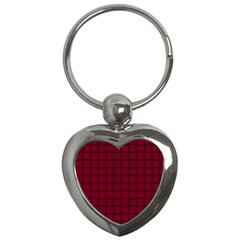 Burgundy Weave Key Chain (heart)
