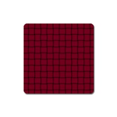 Burgundy Weave Magnet (Square)
