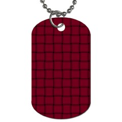 Burgundy Weave Dog Tag (One Sided)