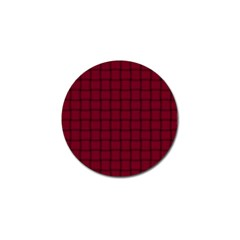 Burgundy Weave Golf Ball Marker
