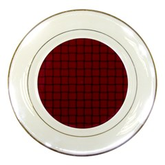 Burgundy Weave Porcelain Display Plate