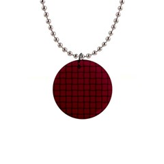 Burgundy Weave Button Necklace