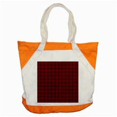 Burgundy Weave Accent Tote Bag