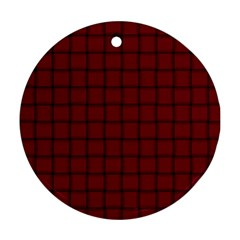 Burgundy Weave Round Ornament (two Sides)