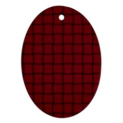 Burgundy Weave Oval Ornament (Two Sides)