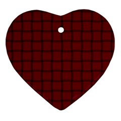 Burgundy Weave Heart Ornament (two Sides)