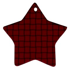 Burgundy Weave Star Ornament (two Sides)