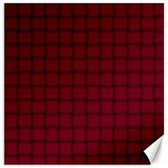 Burgundy Weave Canvas 20  X 20  (unframed)