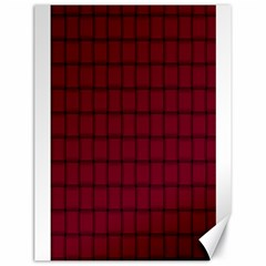 Burgundy Weave Canvas 18  x 24  (Unframed)