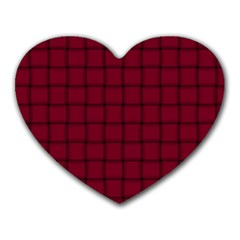 Burgundy Weave Mouse Pad (heart)
