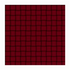 Burgundy Weave Glasses Cloth (medium, Two Sided)