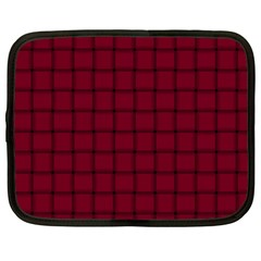 Burgundy Weave Netbook Case (large)