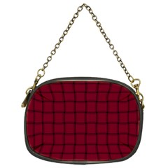 Burgundy Weave Chain Purse (Two Side)