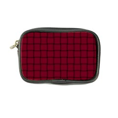 Burgundy Weave Coin Purse