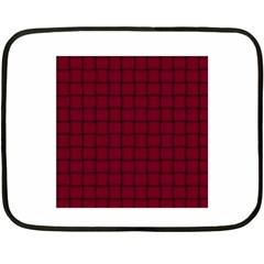 Burgundy Weave Mini Fleece Blanket (Two-sided)