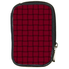 Burgundy Weave Compact Camera Leather Case