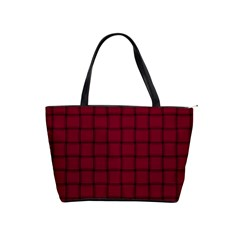 Burgundy Weave Large Shoulder Bag