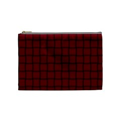 Burgundy Weave Cosmetic Bag (Medium)