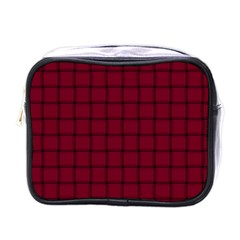 Burgundy Weave Mini Travel Toiletry Bag (One Side)