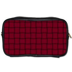 Burgundy Weave Travel Toiletry Bag (Two Sides)