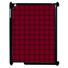 Burgundy Weave Apple iPad 2 Case (Black)