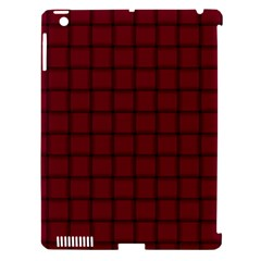 Burgundy Weave Apple iPad 3/4 Hardshell Case (Compatible with Smart Cover)