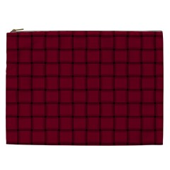 Burgundy Weave Cosmetic Bag (XXL)