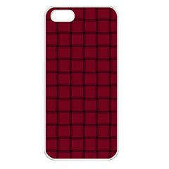 Burgundy Weave Apple iPhone 5 Seamless Case (White)