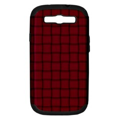 Burgundy Weave Samsung Galaxy S III Hardshell Case (PC+Silicone)