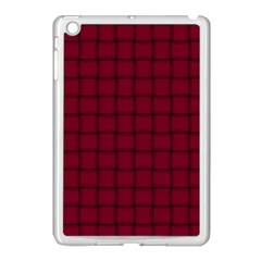 Burgundy Weave Apple iPad Mini Case (White)
