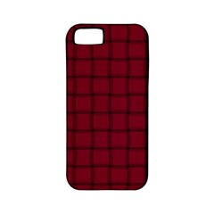 Burgundy Weave Apple iPhone 5 Classic Hardshell Case (PC+Silicone)