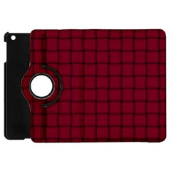 Burgundy Weave Apple Ipad Mini Flip 360 Case