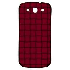 Burgundy Weave Samsung Galaxy S3 S III Classic Hardshell Back Case
