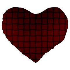 Burgundy Weave 19  Premium Heart Shape Cushion