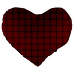 Burgundy Weave 19  Premium Heart Shape Cushion Front